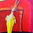 299 - MODIGLIANI BUNNY - DAVE EDWARDS - COLOURED PENCILS & INK - 2010 by BLYTHART