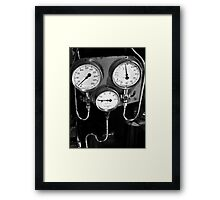 Old gauges Framed Print
