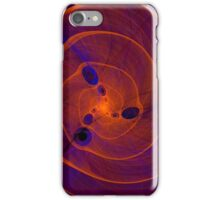 Orange purple abstract marine spiral fractal background iPhone Case/Skin