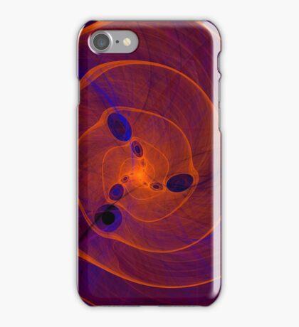 Orange purple abstract marine spiral fractal background iPhone Case/Skin