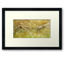 The Birth of Man - Silverpoint Framed Print