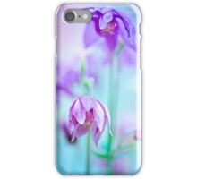 Floral soft tender  background from blue fresh cornflower  macro image iPhone Case/Skin