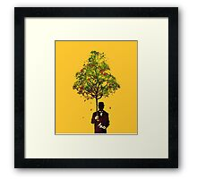 The ethical gentleman yellow Framed Print