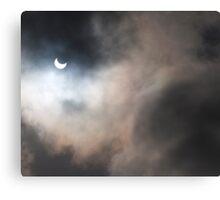 Partial solar eclipse over Cape Town Canvas Print