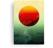 In the end the sun rises Canvas Print