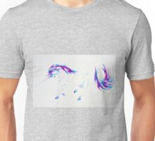 Majestic Unicorn Purple and Blue Unisex T-Shirt