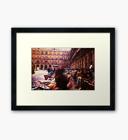 Vintage Cafe Among The Arches Framed Print