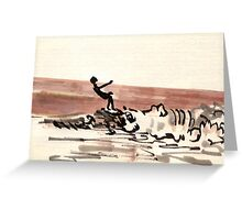 TLV - surfer Greeting Card