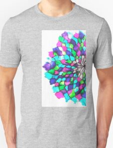 Stained glass effect Flower inked water Doodle T-Shirt