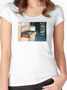 Butts Here Women's Fitted Scoop T-Shirt