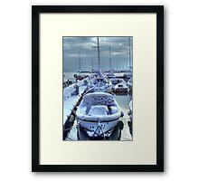 Frozen Boats Framed Print