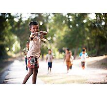 Cheeky Kid Photographic Print