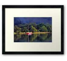 Ullswater and Red Boat Framed Print