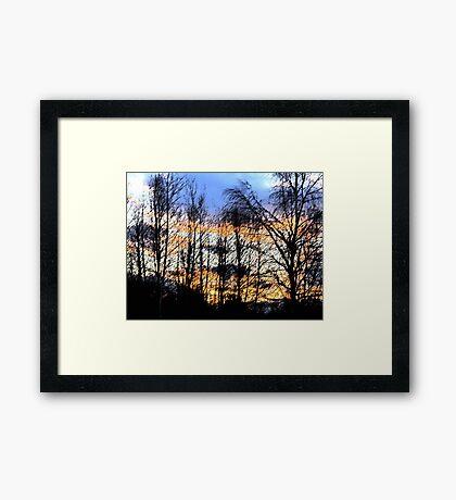 Sunset Sumi-e Framed Print
