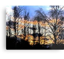 Sunset Sumi-e Metal Print