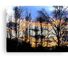 Sunset Sumi-e Canvas Print