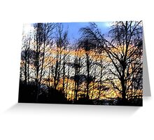Sunset Sumi-e Greeting Card