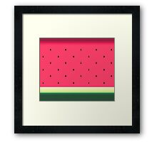 Watermelon // Graphic Fruit Pattern Framed Print
