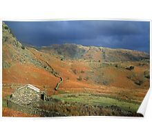 Coniston Fells Lake District Poster