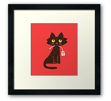 Hungry Hungry Cat Framed Print