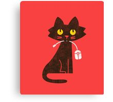 Hungry Hungry Cat Canvas Print