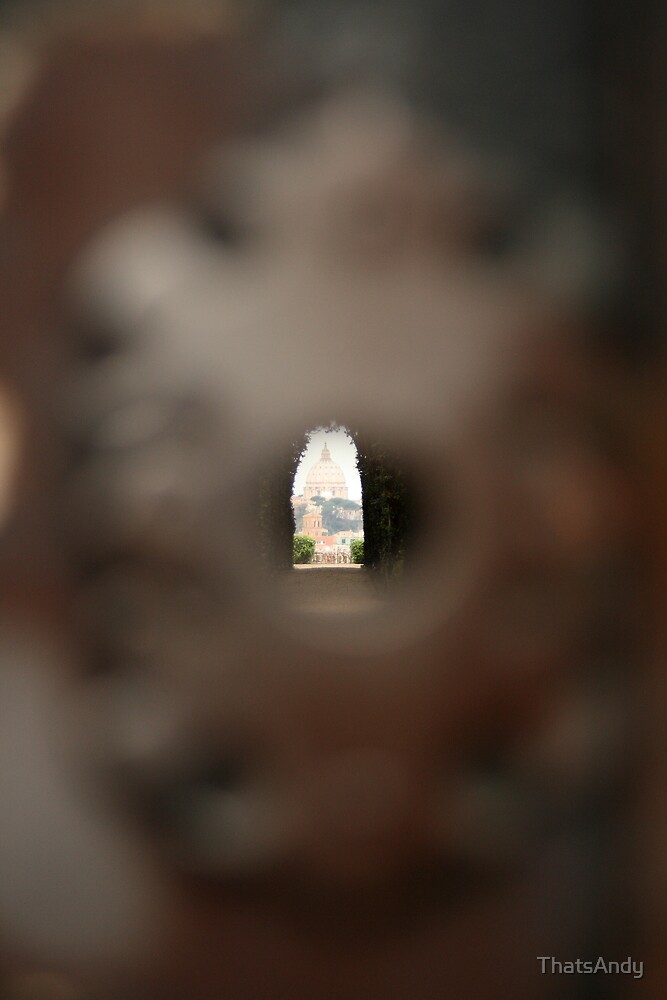 St Peter's seen through the keyhole by ThatsAndy