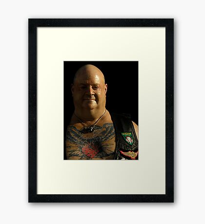 Portrait Of A Biker ~ Part One Framed Print