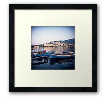 Poros, Greece at Sunset Framed Print