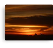 Farewell sunset Canvas Print