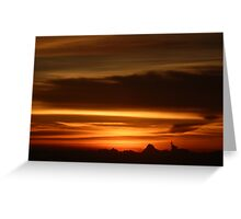 Farewell sunset Greeting Card
