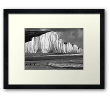 Black & White Sisters Framed Print