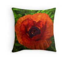 Poppy - Vibrant, Bold and Cheerful Throw Pillow