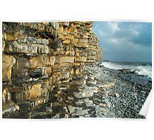 Liassic Limestone Cliffs at Llantwit Major Beach Poster