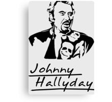 Johnny Hallyday Canvas Print