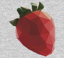 Polygon Strawberry One Piece - Long Sleeve