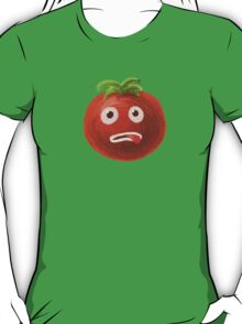 Green Funny Cartoon Tomato T-Shirt