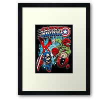 Captain K.O.! Framed Print