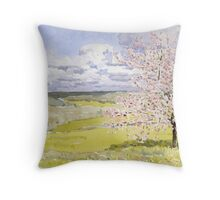 Cherry Blossom in the Dordogne Throw Pillow