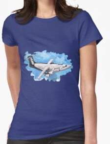 Crappy passenger plane with bad perspective Womens Fitted T-Shirt