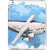 Crappy passenger plane with bad perspective iPad Case/Skin