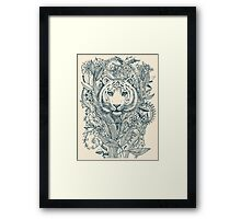 Tiger Tangle Framed Print