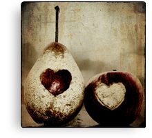a pear in love Canvas Print