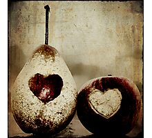 a pear in love Photographic Print