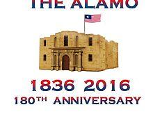 Battle of Alamo 1836 flying Texican Navy Flag 19thC. by Radwulf