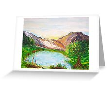 Little Lake in the Mountains Greeting Card