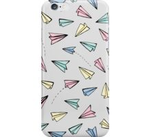 Paper Planes in Pastel iPhone Case/Skin