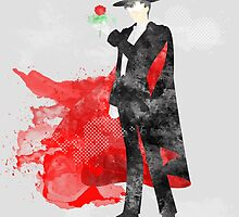 Tuxedo Mask, Sailormoon Giclee Art Print by paperheroes