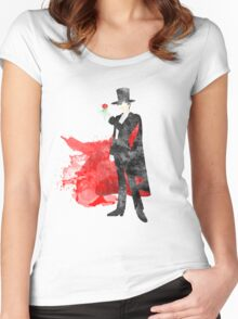 Tuxedo Mask, Sailormoon Giclee Art Print Women's Fitted Scoop T-Shirt