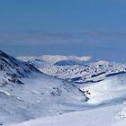 Snowy mountains by Braedene