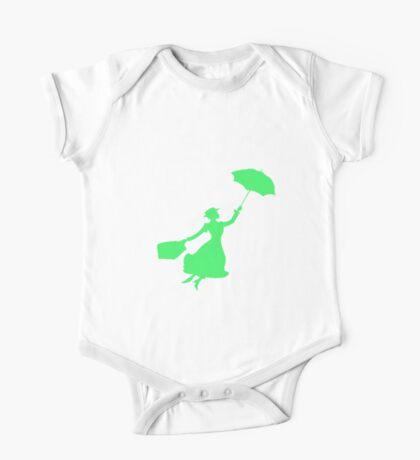 Green Miss Poppins  One Piece - Short Sleeve